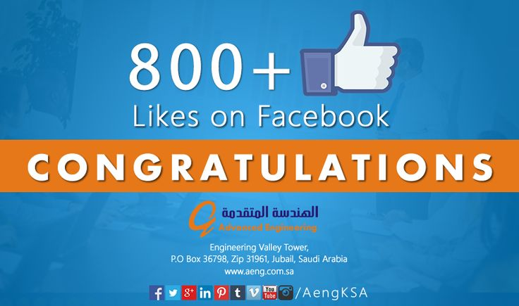 Congrats on having 800+ fans on ‪#‎facebook‬. Thanks for growing us.