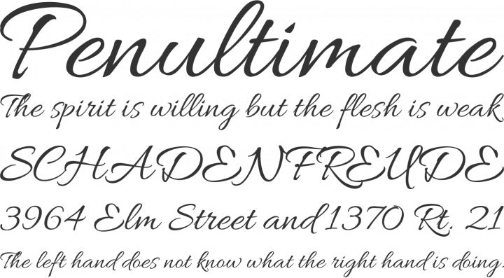 Allura Font Phrases