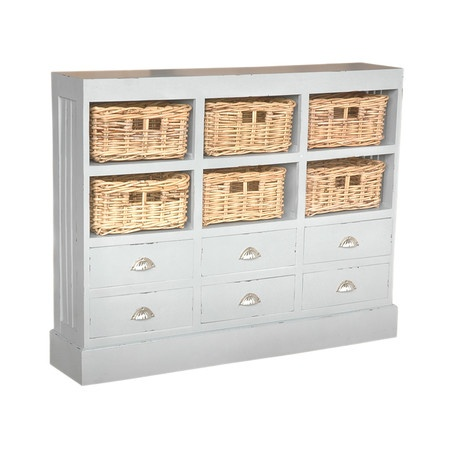 I WANT this Nantucket Chest in Light Gray from the Mangrove Imports. I'd whitewash the baskets and use it in my bedroom. LOVE!