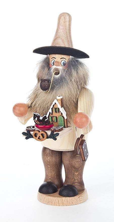 Erzgebirgische Weihnachtsdeko.Affiliate Dregeno Seiffen Räuchermann Lebkuchen Händler Mit