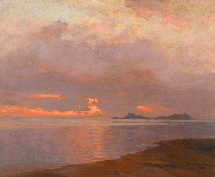 At Dusk by Alexei Vasilievich Hanzen (1876-1937) oil on canvas, date unknown