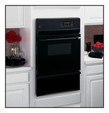 "GE - 24"" Built-in Single Gas Wall Oven - Black"