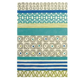 Scion Patch Surf Rug Green And Blue