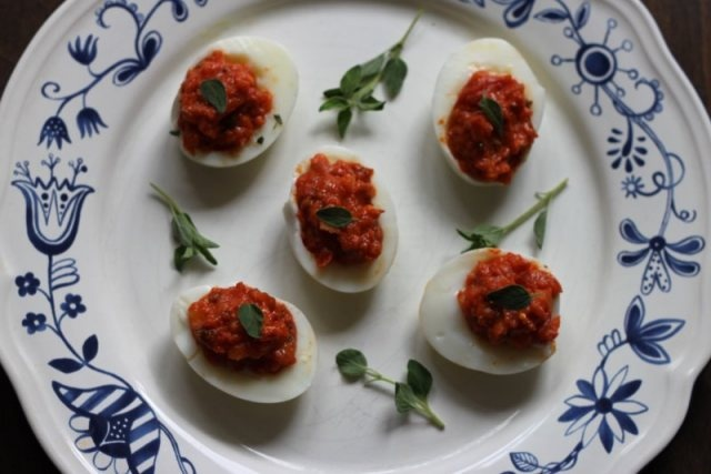Naughty But Nice N'Duja Devilled Eggs