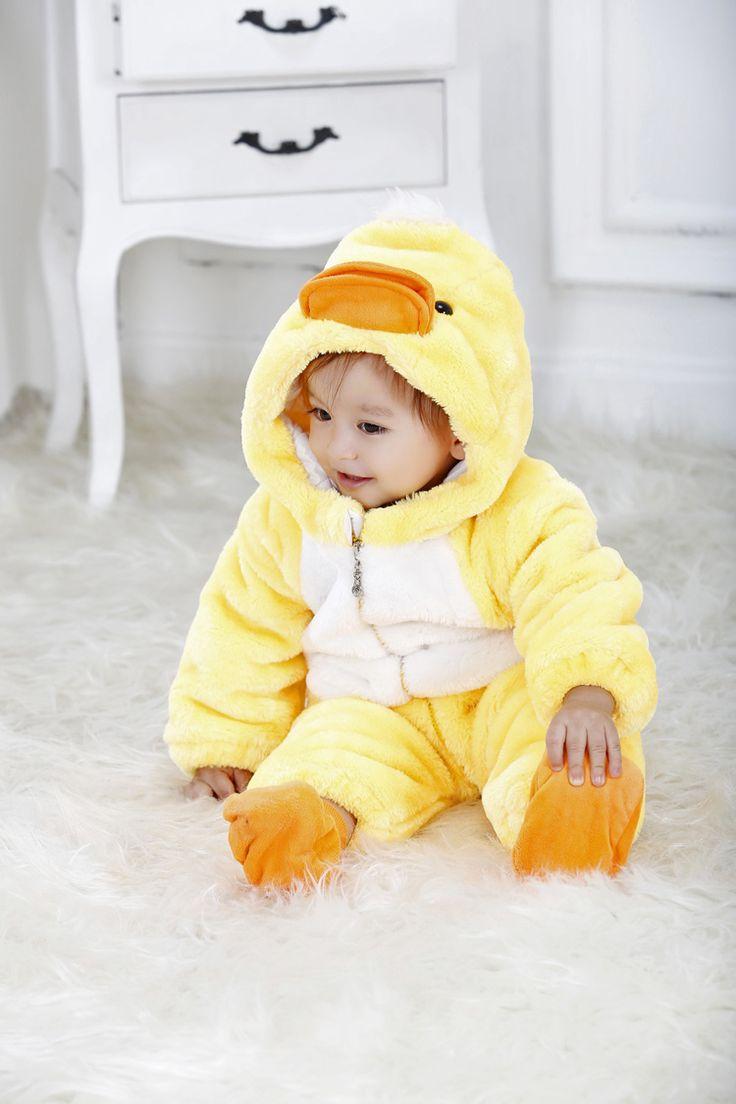 Eco Friendly Yellow Duck Baby Hoodie Baby Onesie Baby ...