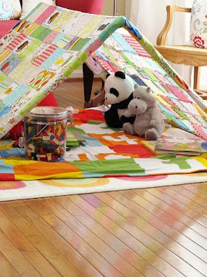 how to make a tent fort