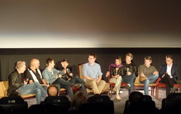 Tobin Bell, Leigh Whannell, James Wan, Shawnee Smith, Cary Elwesat Saw 10yr screening