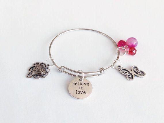 Inspirational bangle/bracelet Believe in Love bangle/bracelet