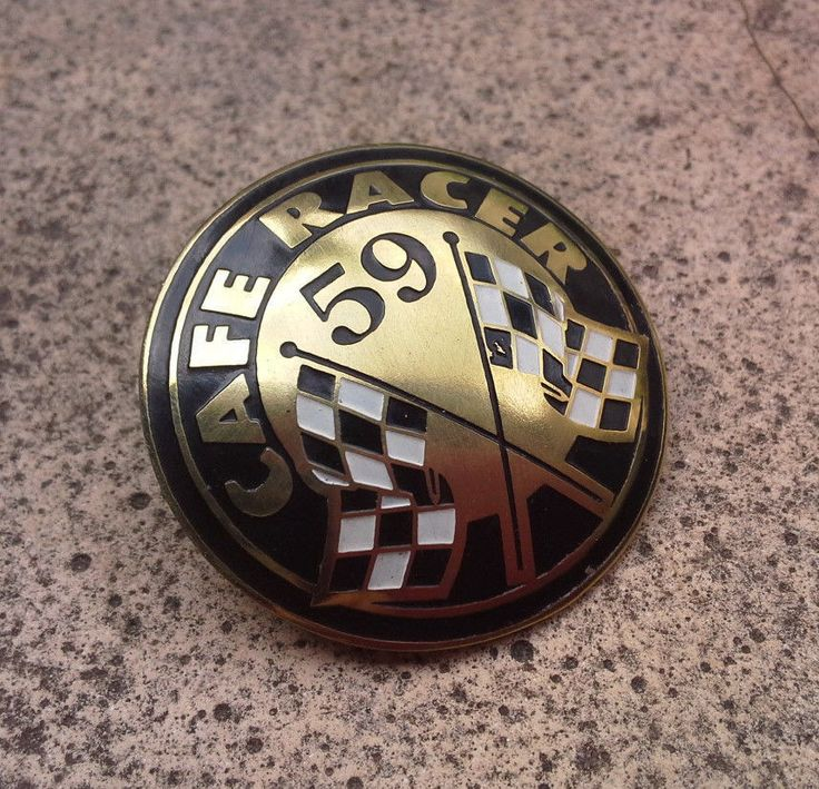 CAFE RACER PIN ROCKERS TON UP 59 CLUB ITALY AJS BSA BIKERS TRIUMPH BMW NORTON