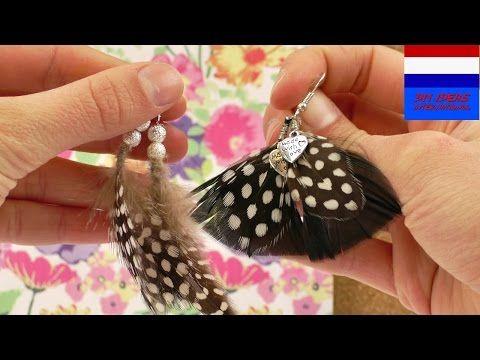 Zelf leuke oorbellen maken met veren, DIY juwelen in ethnische stijl, indiaans Boho Coachella, My