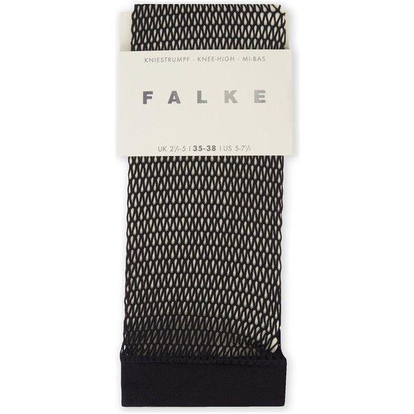 Falke Fishnet knee-high socks (205.545 IDR) ❤ liked on Polyvore featuring intimates, hosiery, socks, knee hi socks, falke socks, knee length socks, falke hosiery and knee socks