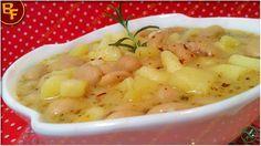 """La Zuppa di fagioli cannellini e patate, è una di quelle ricette che mia mamma definisce """"quattro stagioni"""", perché è saporitissima in ogni momento."""
