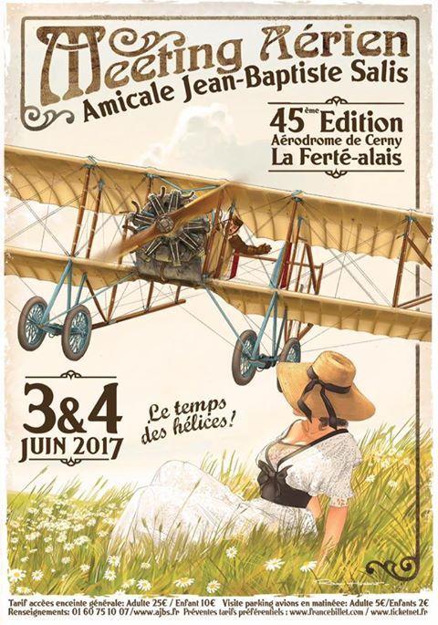 L'Amicale Jean-Baptiste Salis organise son meeting annuel sur le Champ d'Aviation de Cerny – La Ferté Alais.