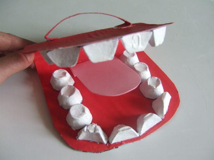 """apprendre à se laver les dents : fabriquer sa """"bouche"""""""