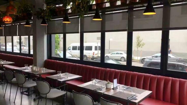 Papery Factory Hotel  Anis Modern Mediterranean Restaurant  Rollease Solar Shades