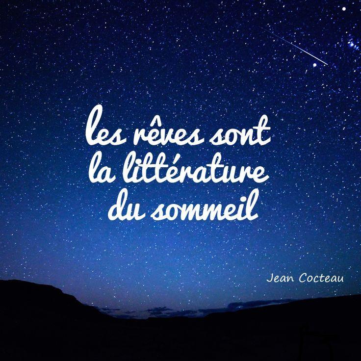 Bonne nuit ! #Citation #JeanCocteau
