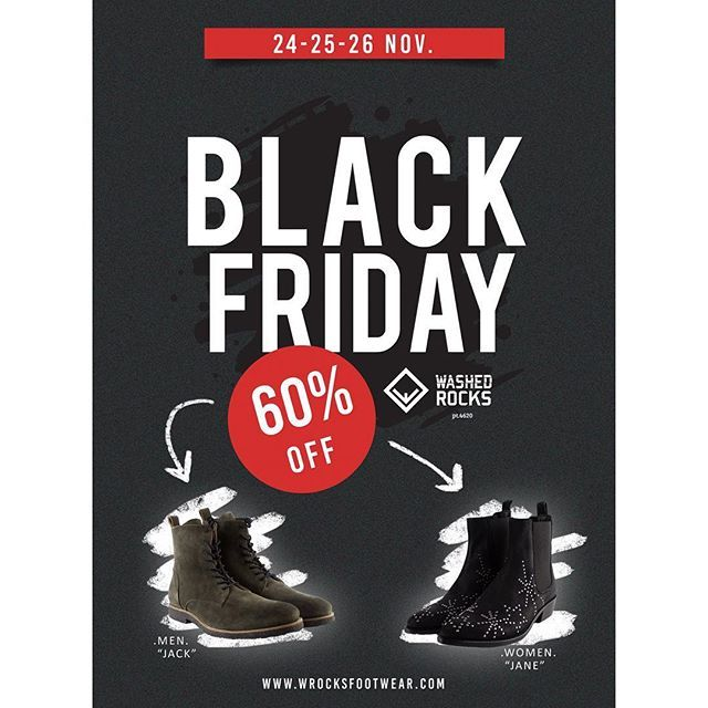 "B L A C K  F R I D A Y ! ""Jack and Jane"" - 60% Off  Plus all the other models with a 50% discount.  Visit our store at wrocksfootwear.com (link in the bio) #blackfriday #sale #blackfridaysale  #washedrocks #wrocksfootwear #footwear #shoes #sneakers #sneakerfreak #sneakerhead #patterns #silver #urbanwear #urbanstyle #streetstyle #streetwear #fashion #instafashion #picoftheday #photooftheday #londonfashion  #parisfashion  #berlinfashion #milanfashion #newyorkfashion #fashionstreet…"