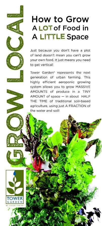 How To Grow A Lot Of Food In A Little Space Tower Garden