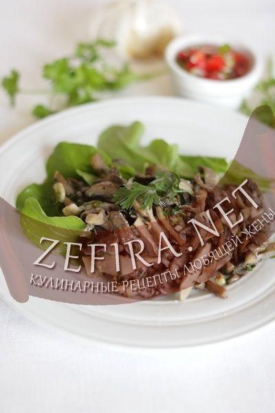 Грибная закуска — вешенки с кинзой и чесноком-домашние рецепты с фото