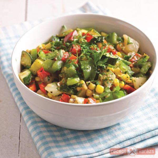 Majorannás nyári saláta