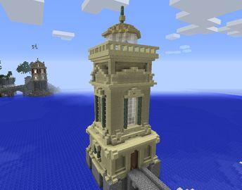 Sandstone Lighthouse - GrabCraft - Your number one source for MineCraft buildings, blueprints, tips, ideas, floorplans!