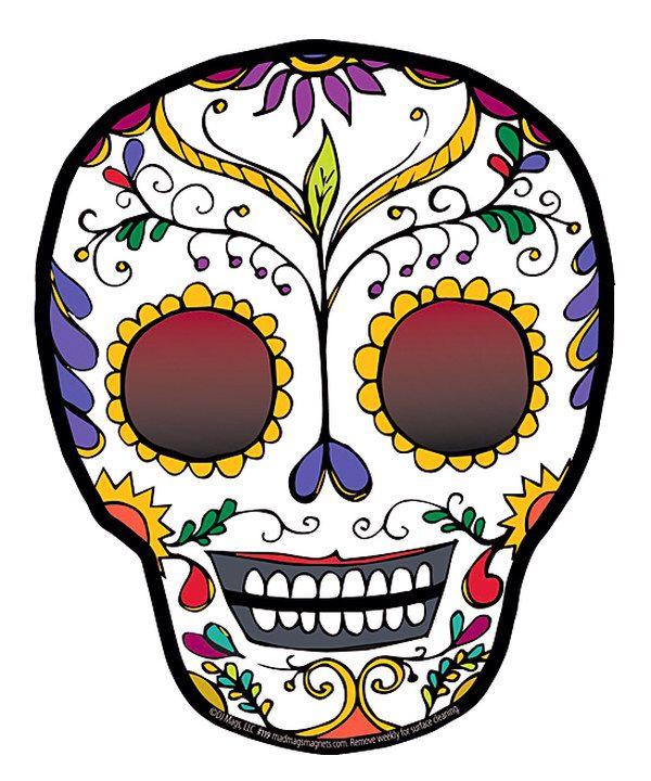 Look at this Señorita Sugar Skull Car Magnet on #zulily today!