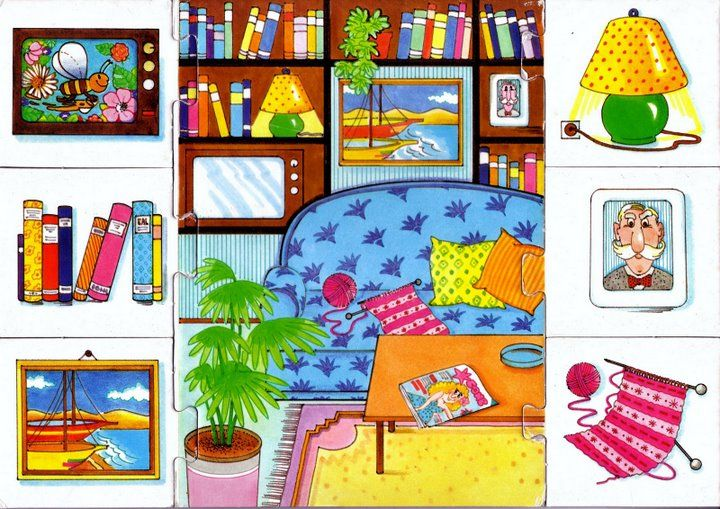 Tummy tickle Blogs: PUZZLES (THEME ANIMALS AND PARTS OF THE HOUSE)