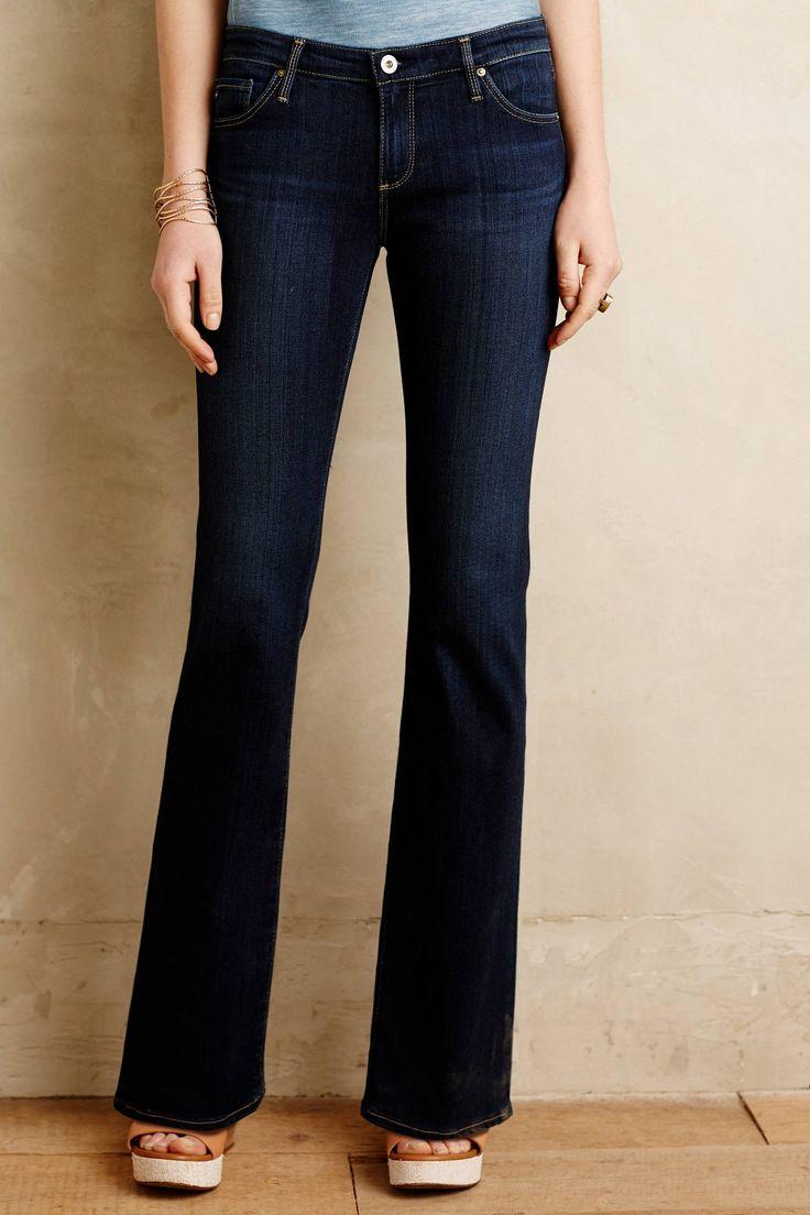 AG Angelina Petite Flare Jeans - anthropologie.com