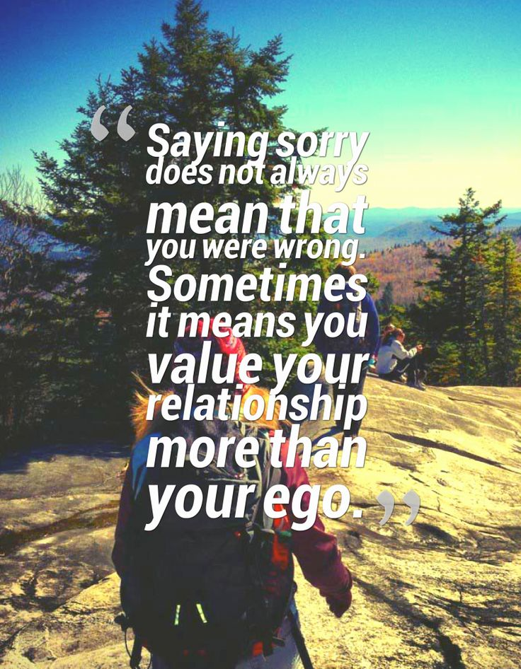 Saying Sorry Does Not Always Mean That You Were Wrong