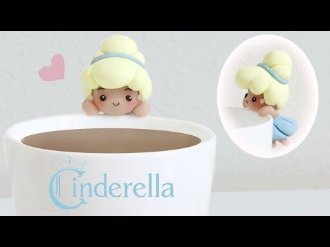 DIY Disney's Cinderella Polymer Clay Cup Companion - YouTube