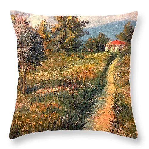 Rural Idyll Pond In Monet Garden by Vit Nasonov.  #Painting #Art #ArtForSale #VitNasonov #Summer #Meadow #CottageArt #BuyArt #Serenity #Relaxation #SweetHome #ArtForHome #RussianArtistsNewWave #ArtForHome #HomeIdeas #Interior #InteriorDecor #Cushion #Pillow #ComfortHome