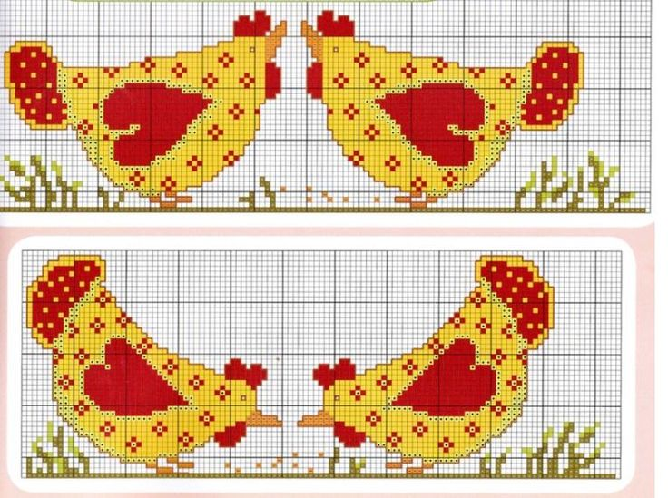Country Chickens Cross Stitch