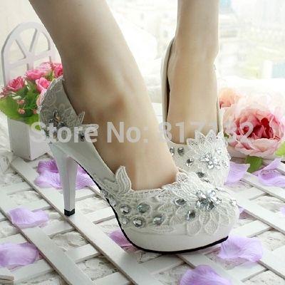 3 CM / 4.5 CM / 8.5 CM 2015 dama de honra sapatos de verão sapatos rendas sapatos de casamento plataforma de strass alishoppbrasil