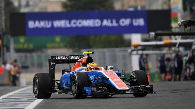 Rio Haryanto (IDN) Manor Racing MRT05 at Formula One World Championship, Rd8, European Grand Prix, Practice, Baku City Circuit, Baku, Azerbaijan, Friday 17 June 2016. © Sutton Images