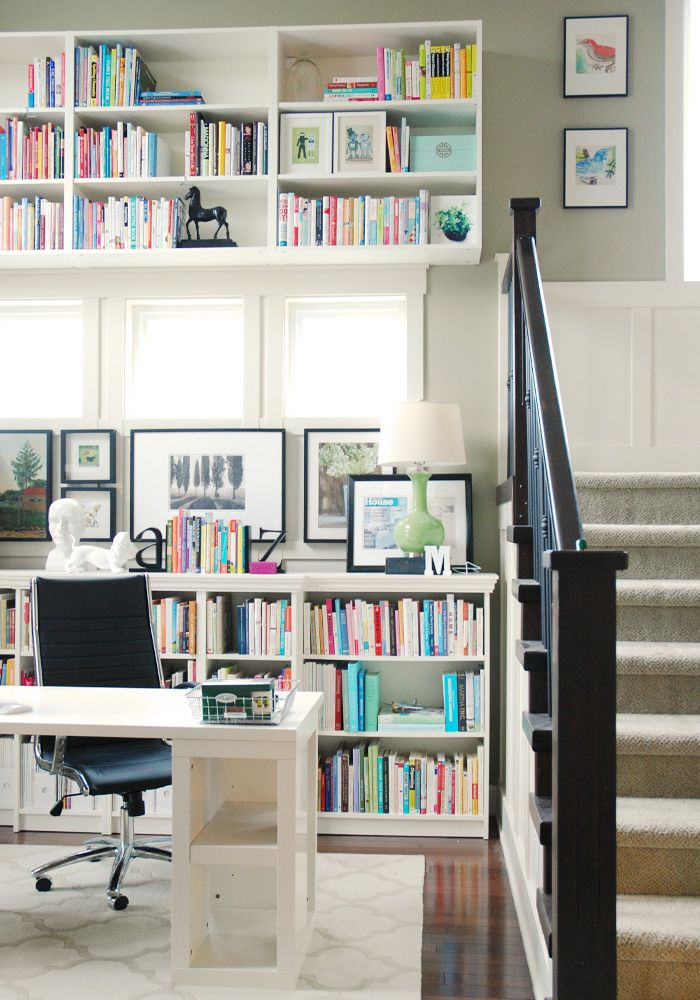 Billy Bookcase Desk: Billy Bookcases From Ikea + MDF And Chair