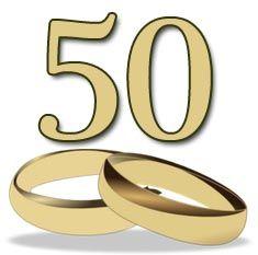 Goldene Hochzeit Glückwünsche für Karten