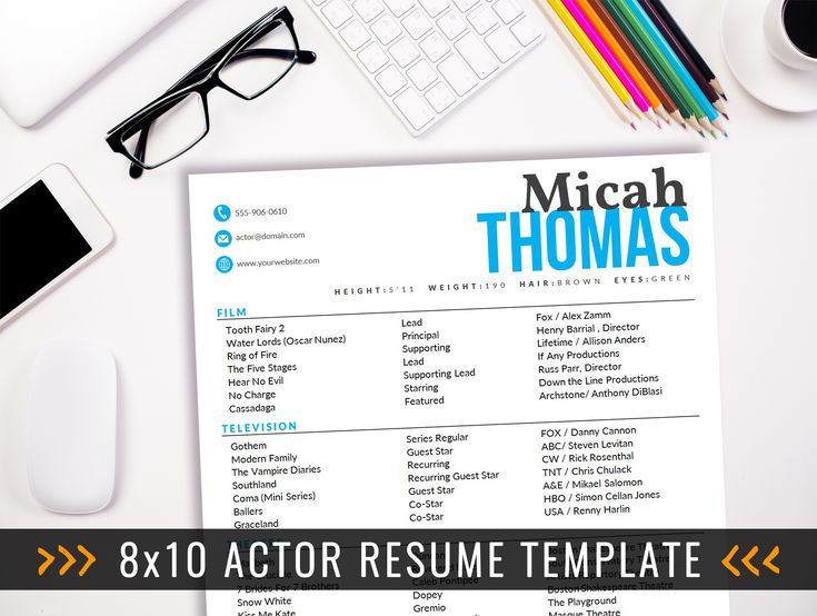 Best Acting Resume Templates Images On