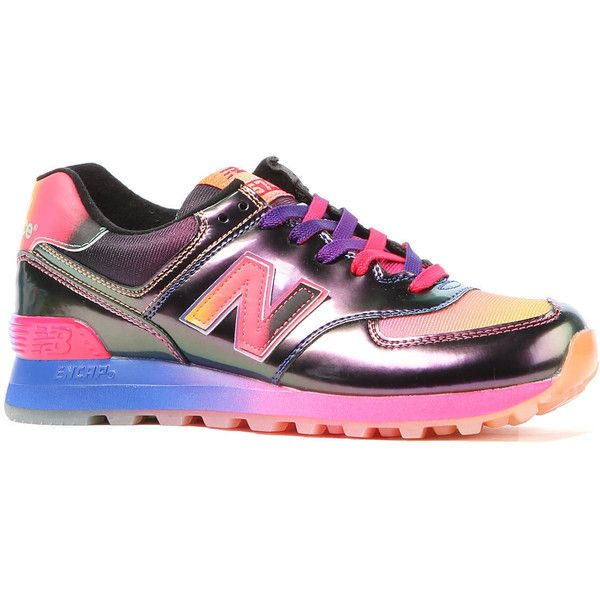 New Balance The Rainbow 574 Sneaker in Pink & Purple (€87) ❤ liked on Polyvore featuring men's fashion, men's shoes, men's sneakers, shoes, pink, mens purple sneakers, mens purple shoes, mens running sneakers, mens pink shoes and new balance mens sneakers