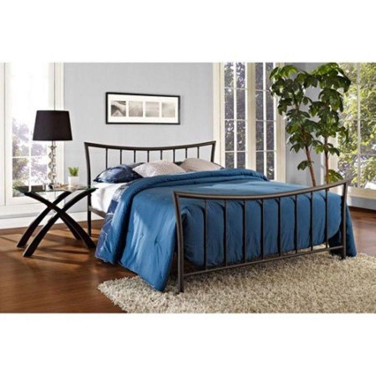 Queen Size Bed Frame Metal Bali Bronze Black Bedroom Platform  Sleeper New #Generic #Contemporary