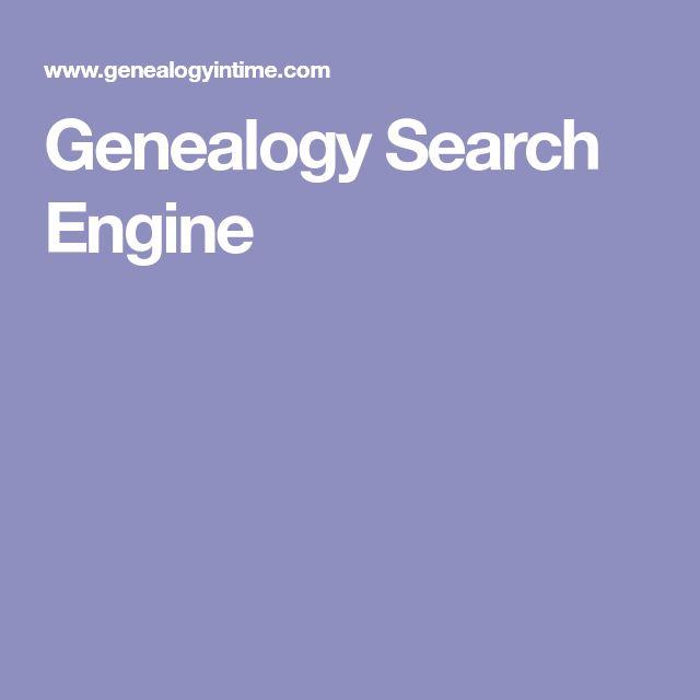 Genealogy Search Engine
