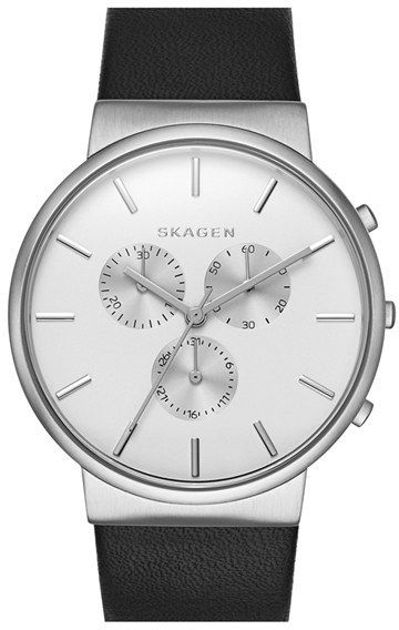 Skagen 'Ancher' Chronograph Leather Strap Watch 40mm  #Watch #Fashion #Men  Buy (on sale now): http://mckayfashion.eu/ss/item/55ead950ec2056dc6dd3e34f