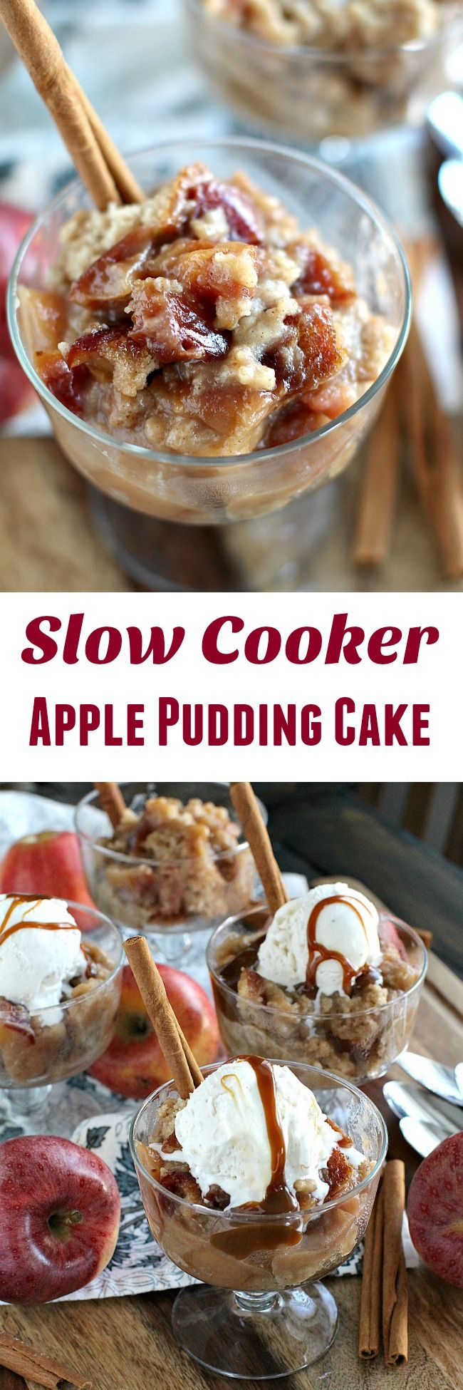 Slow Cooker Apple Pudding Cake Is Easy To Make Loaded