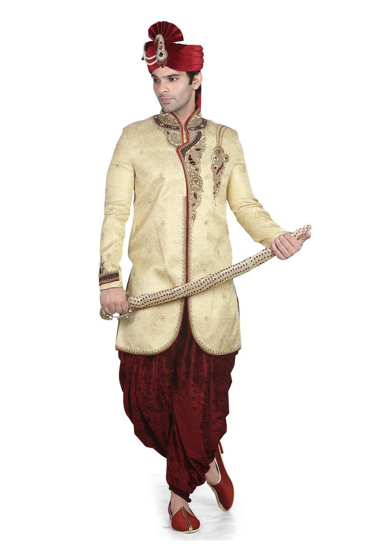 Special Indian Marriage sherwani  www.attirebazaar.com Whats app :+91-7048347277