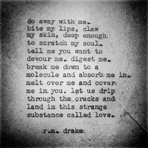 This strange substance called love..