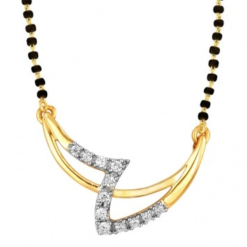 periwinkle #gold #diamond #mangalsutra