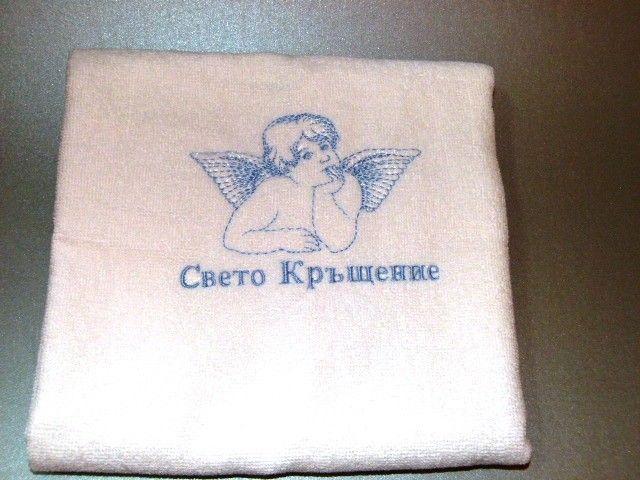 "Кърпа с бродерия ""Ангел"" изображения"