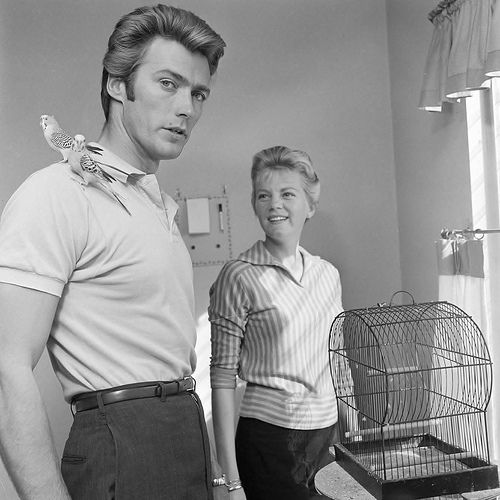 Clint Eastwood and his wife Maggie Johnson, October 1, 1959