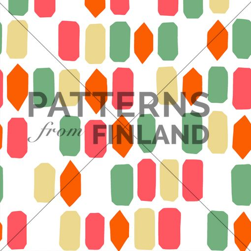 Onnenpäivä – Lauantai by Maria Tolvanen  #patternsfromagency #patternsfromfinland #pattern #patterndesign #surfacedesign #mariatolvanen