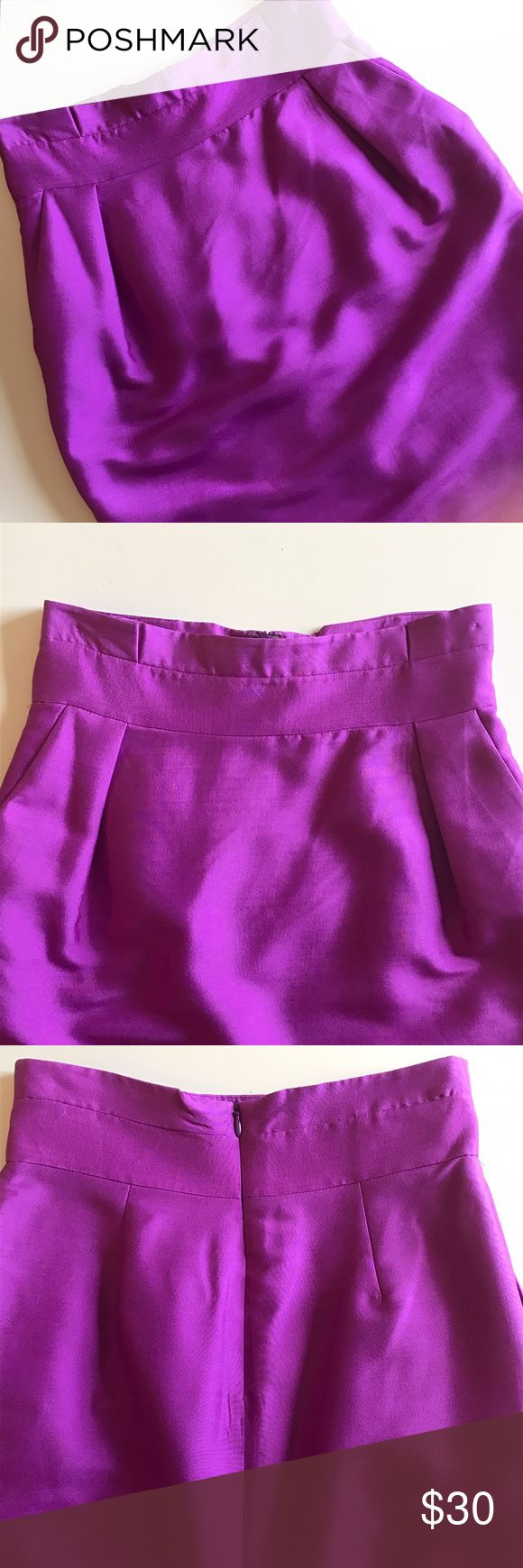 Reiss Purple Skirt Gently worn. Labeled size 4 but runs small. Fits like a 2. No trades, no pp. Reiss Skirts Pencil