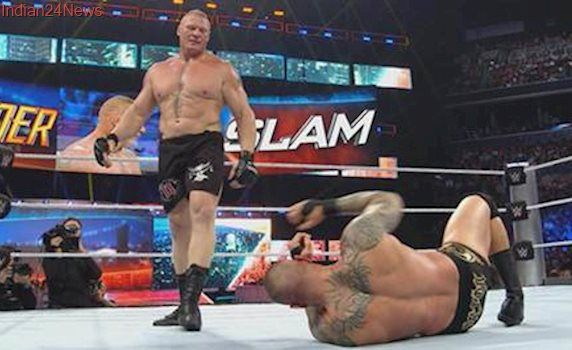 Brock Lesnar beats down Big Show after the cameras switched off at Raw